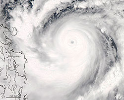 Jelawat dekker et enormt område. Dette bildet er tatt 24. september. (Foto: NASA)