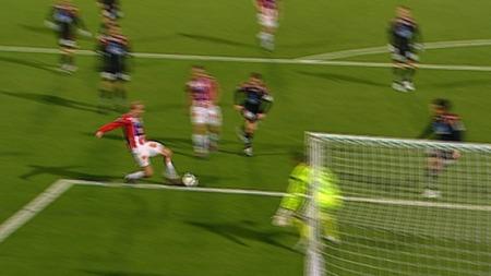 Det kunne stått 2-0 til Tromsø da Ruben Kristiansen fikk en stor mulighet etter 66 spilte minutter.