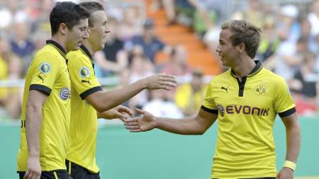 OUTSIDER: Wikestad tror  Mario Götze og Dortmund kan vinne Mesterligaen. (Foto: CARMEN JASPERSEN/Afp)