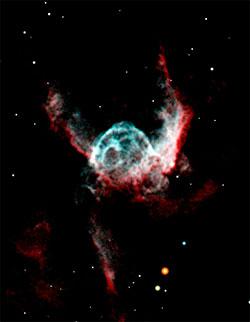 Tors hjelm er en tåke i stjernebildet Store hund, 15.000 lysår fra jorden. (Foto: ESO)