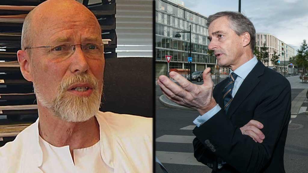 POSITIVT: Professor Olav Mella er svært fornøyd med at helseministeren vil satsse på på partikkelterapi.  (Foto: TV 2/ NTB scanpix)
