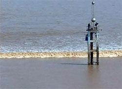 Bølgehøyden varierer mellom halvannen og ni meter. (Foto: CBS)