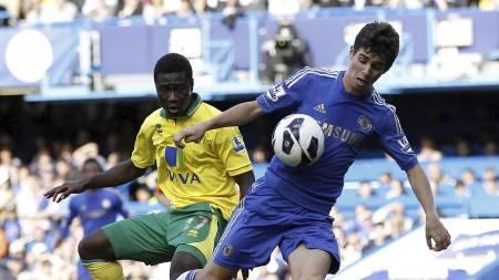 Oscar Tettey Chelsea Norwich (Foto: IAN KINGTON/Afp)