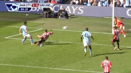 Sergio Aguero 2-0 Manchester City mot Sunderland