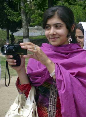 Malala har fått oppmerksomhet over hele verden for å ha våget   å snakke ut mot de som nekter jenter å gå på skole. (Foto: SCANPIX/REUTERS)