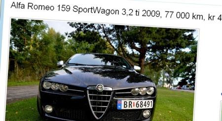 Alfa Romeo 159 annonse