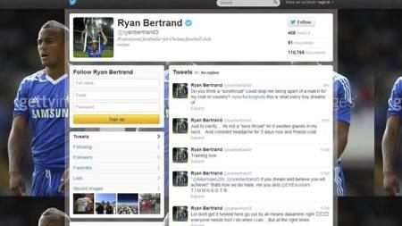 Ryan Bertrand på Twitter (Foto: Twitter/)