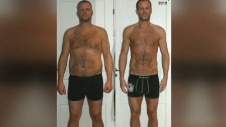VEKTTAP: Som personlig trener hjalp Lene Alexandra sin PT-klient og fremtidige kjæreste Børge med å gå ned 20 kilo.