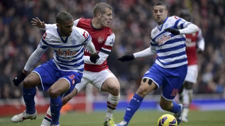 GLEDELIG GJENSYN: Jack Wilshere spilte sine første minutter fra start for Arsenal siden mai 2011. (Foto: Jonathan Brady/Pa Photos)