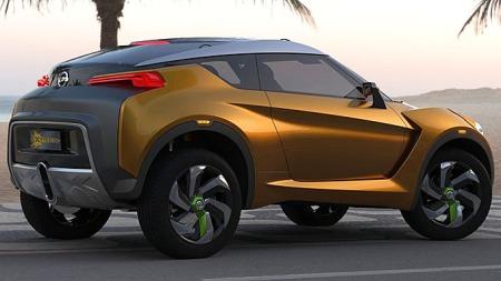 Den ser nesten mer ut som noe vi kunne ha lekt med i sandkassen enn en ordentlig bil - men dette er altså det siste konseptet fra Nissan.