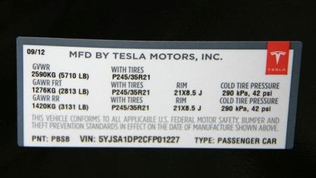 Vår testbil  er antagelig nr 227 av de første 250 som er bygget til nå. Jeg tipper de har begynt på 1000.