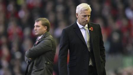 Ett poeng til både Alan Pardew og Brendan Rodgers på Anfield. (Foto: Peter Byrne/Pa Photos)
