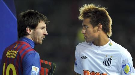 PÅ SAMME LAG? Messi og Neymar. (Foto:   KAZUHIRO NOGI/Afp)