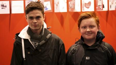 Daniel og Marius (Foto: Marianne Ahlsen/)