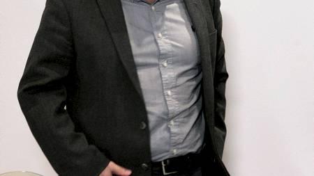 Harald Tiedemann Hansen på torsdagens pressekonferanse i Steffen Kjærgaard-saken. (Foto: Kallestad, Gorm/NTB scanpix)