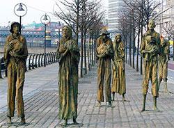 Minnesmerke over sultkatastrofen, i Dublin. (Foto: Ania Mendrek / Creative Commons)