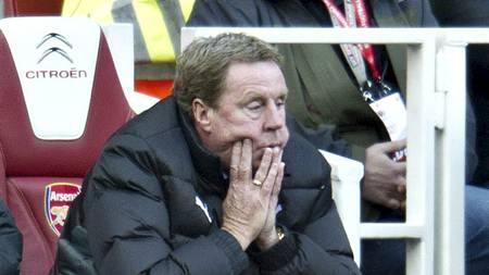TUNGT PÅ EMIRATES: Harry Redknapp fikk et tungt siste møte med   Arsenal på Emirates. (Foto: Bogdan Maran/Ap)