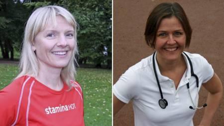SPORTYEKSPERTER: Ernæringsfysiolog Kari Sellæg og lege Aina Emaus, begge ansatt i Stamina HOT. (Foto: Eivind Pettersen / TV 2/)