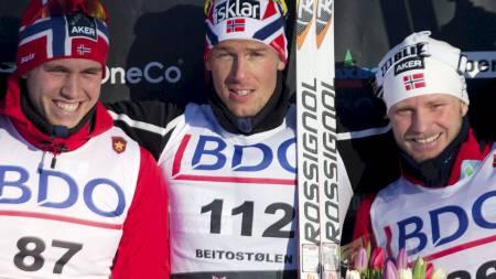 VANT SØNDAG: Chris Jespersen kunne juble etter å ha vunnet søndagens klassiskløp på Beitostølen. (Foto: Bendiksby, Terje/NTB scanpix)