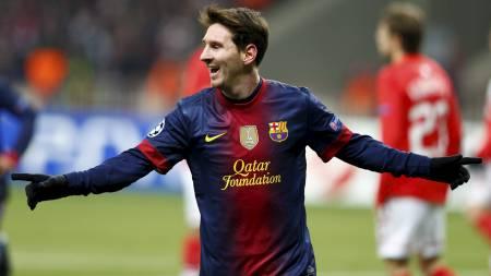 USTOPPELIG: Lionel Messi fortsetter å score mål etter mål. Mot Spartak Moskva var argentineren nok en gang sentral da Barcelona tok seg videre fra gruppespillet i Mesterligaen. (Foto: GRIGORY DUKOR/Reuters)