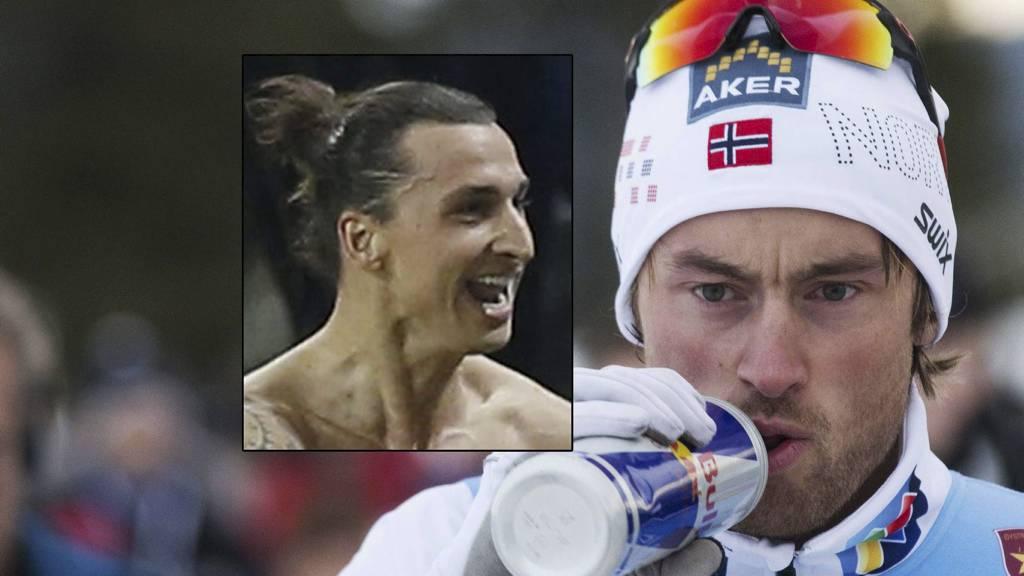 Petter Northug er stor fan av Zlatan Ibrahimovic. (Foto: MONTASJE/)