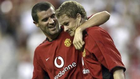 TAKKET NEI: Roy Keane vil ikke være med på hyllesten av Sir Alex Ferguson. Det vil Solskjær. (Foto: STEPHEN DUNN/AFP)