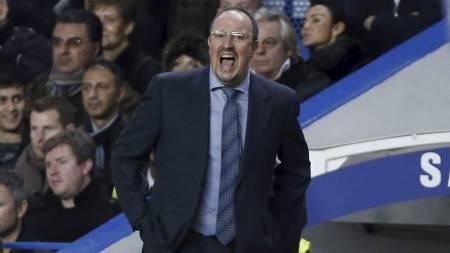 Rafa Benitez i sin første kamp som Chelsea-manager. (Foto: Matt Dunham/Ap)