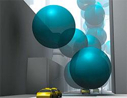 Hver ballong er ti meter i diameter, og inneholder ett sekund av New Yorks utslipp av CO2. (Foto: CarbonVisuals)