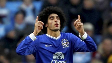 Marouane Fellaini er tilbake for Everton etter tre kampers suspensjon (Foto: Barrington Coombs/Pa Photos)