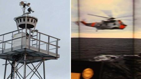 14 KAMERAER FØLGER MED: Bildene fra kameraene på værøy sendes via fiber til like mange tv-skjermer i Bodø. Tidsforsinkelsen er på maks ett sekund. (Foto: Ole H. Sommarset)