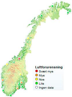 Slik var forholdene klokken 10 tirsdag. Sjekk hvordan de er nå på luftkvalitet.no. (Foto: luftkvalitet.no)