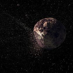 Omtrent slik ser asteroiden Paethon ut. Geminidene er blitt kraftigere de siste årene, siden tyngdekraften fra Jupiter flytter båndet med støv og stein nærmere jordbanen. De neste tiårene kan vi kanskje se 200 stjerneskudd i timen 13. desember. (Foto: Knut Jørgen Røed Ødegard)