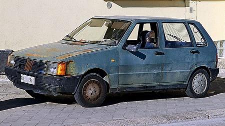 Mange Fiat Uno er i sørgelig forfatning. Prisene blir deretter.