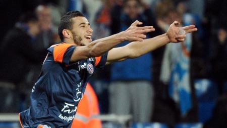 Younès Belhanda   er tilbake hos Montpellier etter spill for Marokko i Sør-Afrika (Foto:   SYLVAIN THOMAS, ©AG)