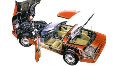 Chevrolet var ivrige til å vise frem den hypermoderne konstruksjonen som nå ga Corvetten kjøreegenskaper i verdensklasse. Bilen hadde bredere hjul bak enn foran som standard, og med retningsavhengige dekk fra Goodyear ble det dyrt å punktere.