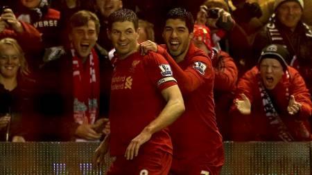 Gerrard and Suarez (Foto: Nick Potts/Pa Photos)