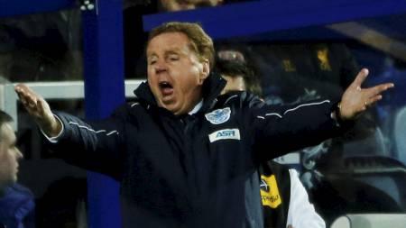 LITEN GRUNN TIL Å JUBLE: Harry Redknapp ledet et lag for 600. gang i Premier League, men fikk ingen gave fra sine spillere i jubileumskampen. (Foto: EDDIE KEOGH/Reuters)