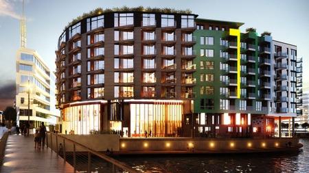 Petter Stordalens nye hotell The Thief på Tjuholmen. (Foto: Knut Ramstad)