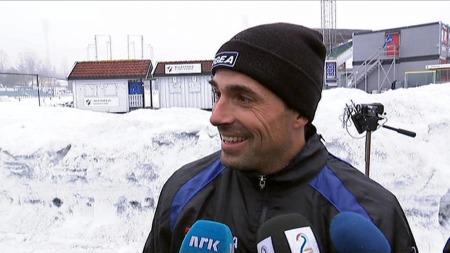 Martin Andresen var på Stabæk-trening 7. januar 2013. (Foto: TV 2)