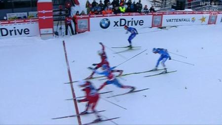 TØFF KAMP OM PALLPLASSENE: Pål Golberg sikret andreplass for Norge 1, mens Anders Gløersen måtte gi tapt for Nikita Kriukov i kampen om den siste pallplassen.