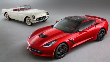 Det har skjedd mye på 60 år. Tidenes første Corvette var ment som en designstudie av hvordan man kunne bruke det nye materialet glassfiber og ikke tenkt produsert i det hele tatt. Syvende generasjon ligger det mer avanserte planer bak.