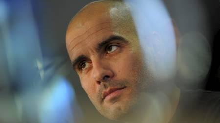 OVERTAR BAYERN: Pep Guardiola overtar Bayern München fra og   med neste sesong. (Foto: LLUIS GENE/Afp)