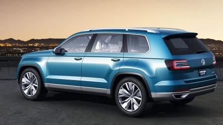 Designet er tydelig Volkswagen, men med rettere linjer enn på   konsernets to andre SUV-er.
