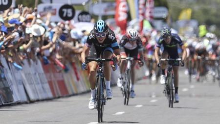 VISTE KONKURRENTENE RYGGEN: Geraint Thomas vant den andre etappen i Tour Down Under. (Foto: Mark Gunter, ©AD)