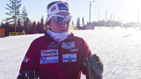 Marthe Kristoffersen på trening før NM. (Foto: MATS WEDERVANG/)