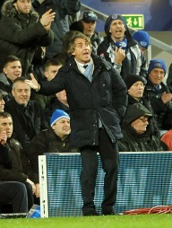 FIKK DET IKKE TIL: Roberto Mancini og Manchester City måtte ta til takke med ett poeng i bortekampen mot QPR. (Foto: Anthony Devlin)