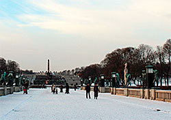 Frognerparken i Oslo like før solnedgang 15. januar. (Foto: Berit S. Lier)