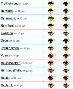 Det er skredfare 3 og 4 i flere fjellområder i Sør-Norge onsdag   og torsdag. (Foto: storm.no/snoskredvarsel)