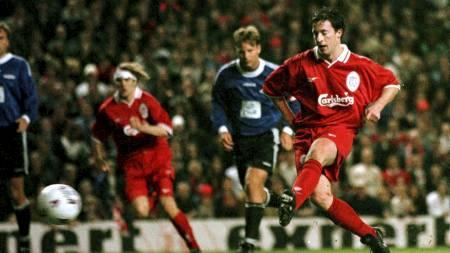 SCORET I RETUROPPGJØRET: Robbie Fowler scoret også på Anfield da Liverpool vant 3-0. Den gangen på straffe. (Foto: DAN CHUNG/NTB scanpix)