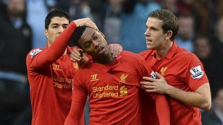 MED FRA START: Både Luis Suárez, Daniel Sturridge og Jordan Henderson starter mot Sunderland. (Foto: ANDREW YATES/Afp)
